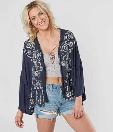 Coco + Jaimeson Floral Embroidered Cardigan