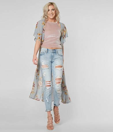 Coco + Jaimeson Floral Duster Cardigan
