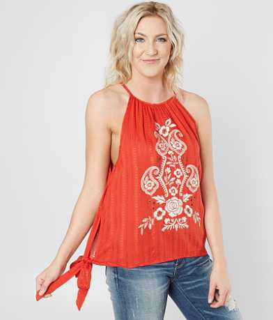 Coco + Jaimeson Floral Embroidered Tank Top