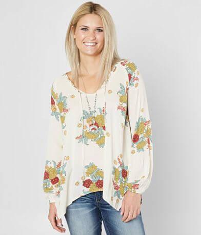 Coco + Jaimeson Floral Peasant Top