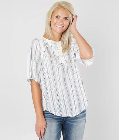 Coco + Jaimeson Striped Woven Top