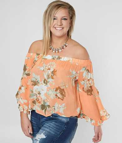 Taylor & Sage Off The Shoulder Top - Plus Size