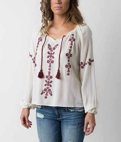 Taylor & Sage Split Neck Top