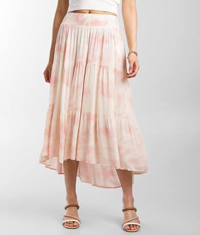 Coco + Jaimeson Tie-Dye High Low Maxi Skirt