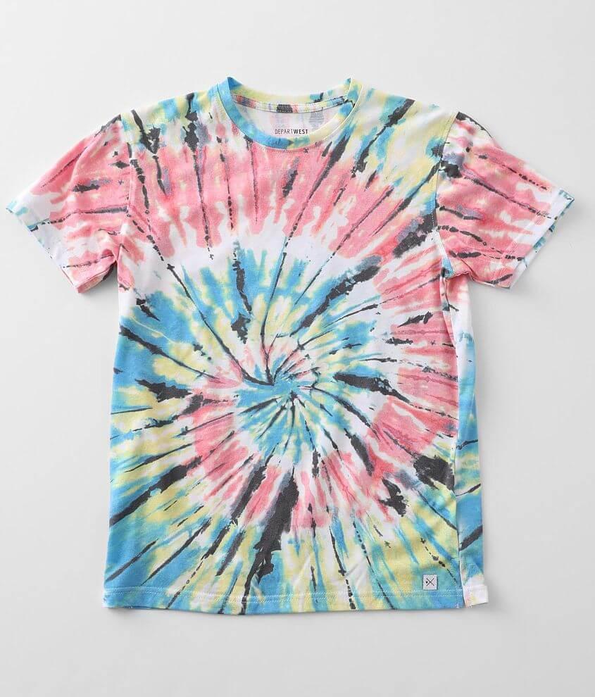 Boys - Departwest Flair Tie Dye T-Shirt front view
