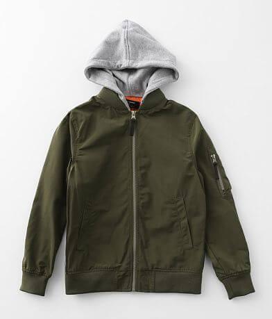 Boys - Ocean Current Oaks Hooded Bomber Jacket