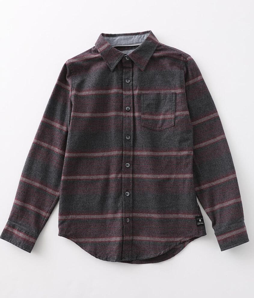 Boys - Ocean Current Rockford Flannel Shirt front view