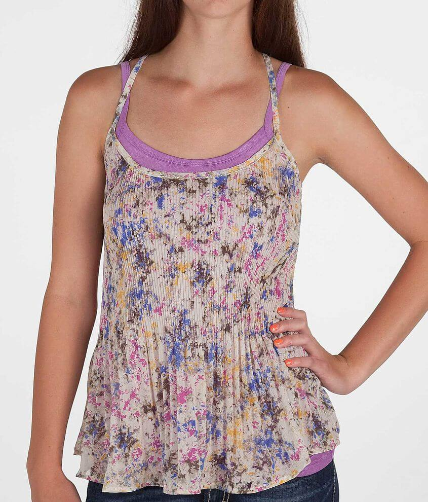 Daytrip Pleated Tank Top front view