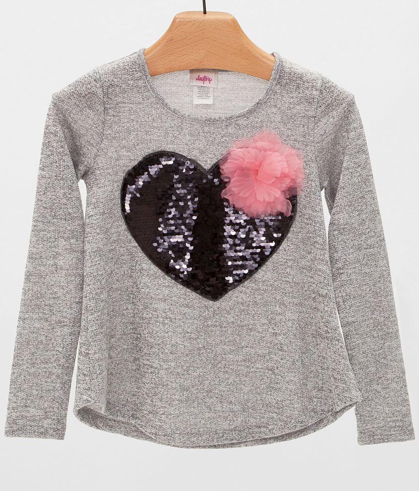 Girls - Daytrip Heart Sweatshirt front view
