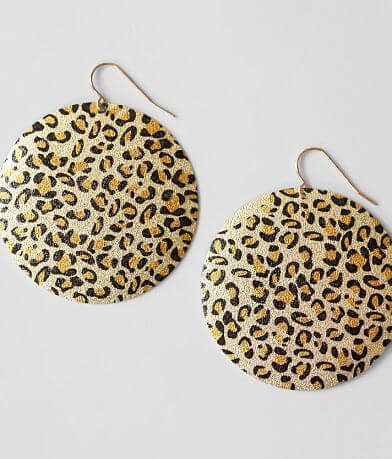 BKE Circle Leopard Earring