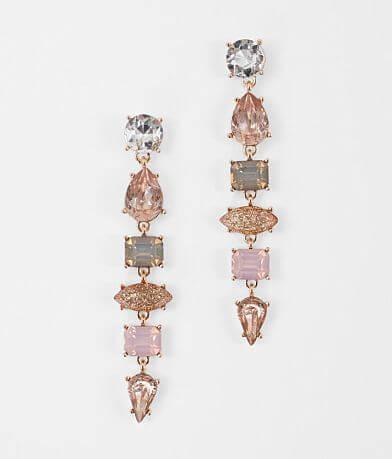 BKE Stacked Glitter Rhinestone Earring