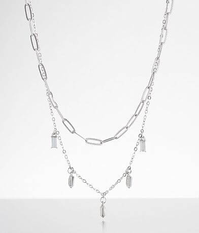 BKE Tiered Glitz Necklace