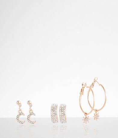 BKE Star & Crescent Earring Set