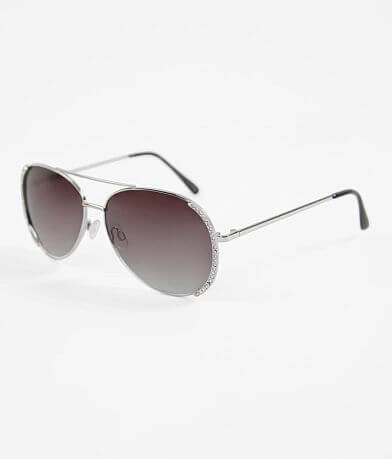 BKE Air Mail Aviator Rhinestone Sunglasses