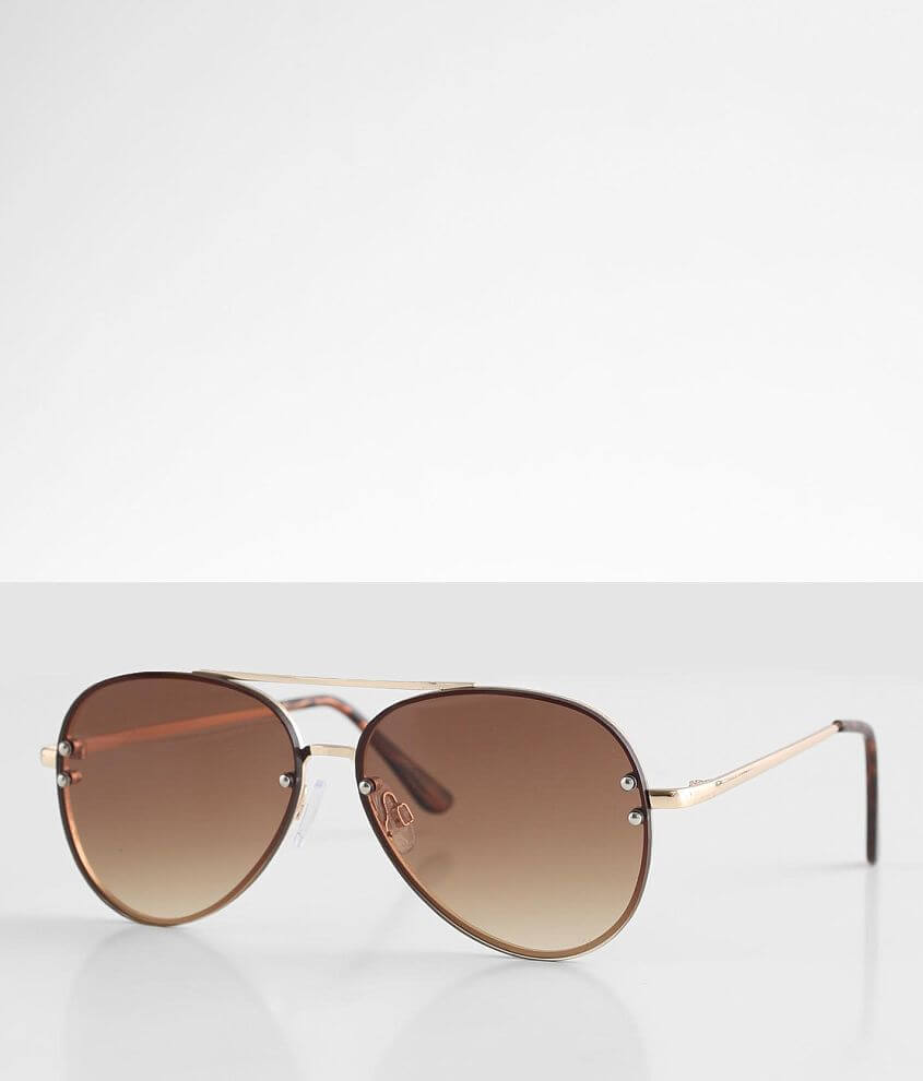 BKE High Rise Aviator Sunglasses front view