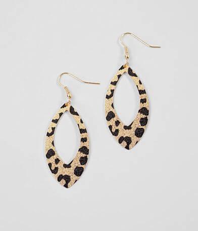BKE Metallic Leopard Earring