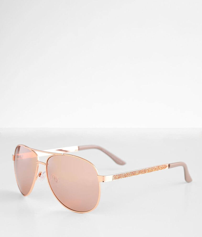BKE Aviator Glitter Sunglasses front view