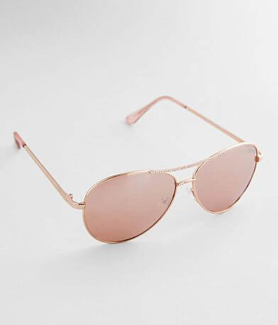 BKE Mirrored Glitz Sunglasses