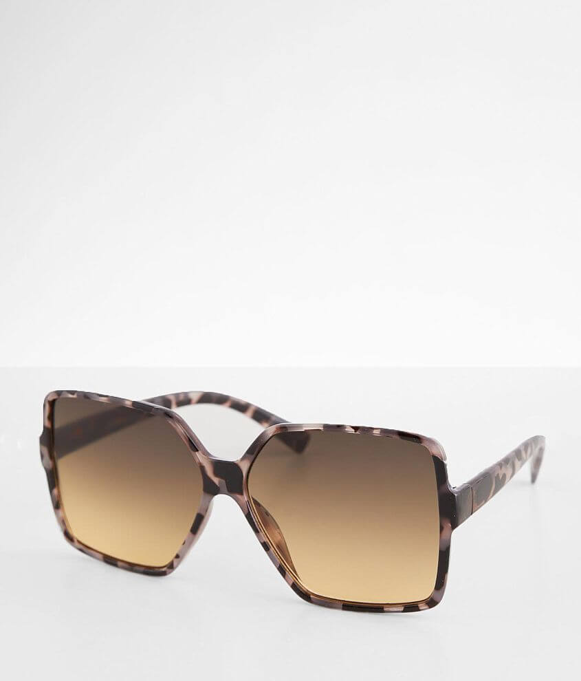 BKE West Coast Oversized Square Sunglasses front view