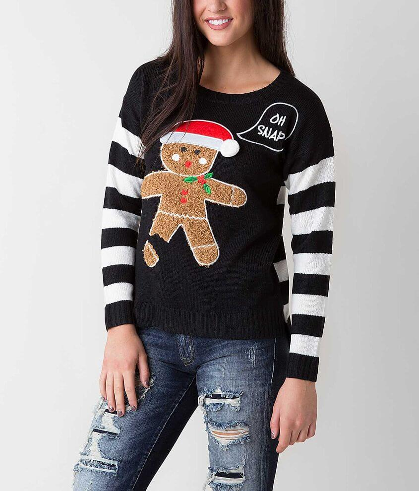 Ugly Christmas Sweater Gingerbread Man Sweater - Women\'s Sweaters in ...