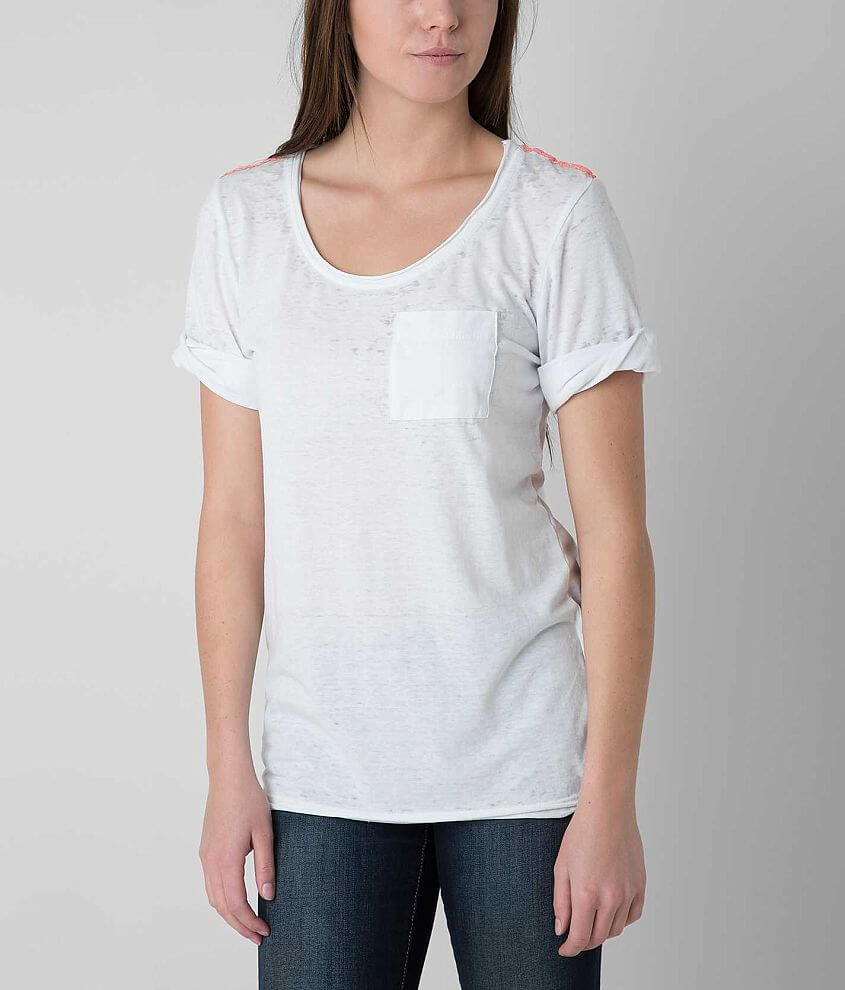 BKE Raw Edge T-Shirt front view
