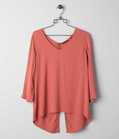 red by BKE Gauze Top