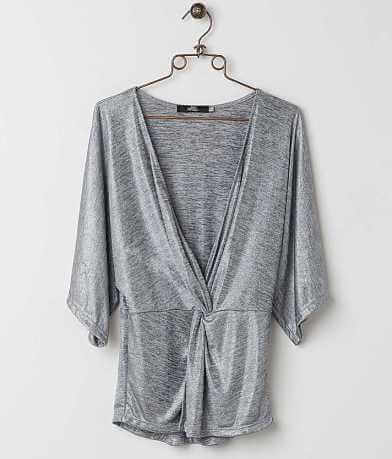 BKE Boutique Metallic Top