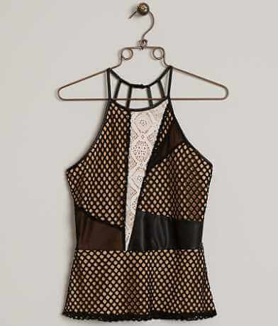 BKE Boutique Laser Cut Tank Top