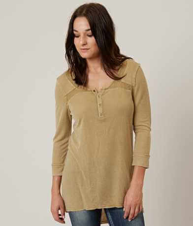 Gilded Intent Ribbed Henley Top