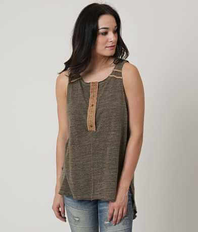 Gilded Intent Heathered Henley Tank Top