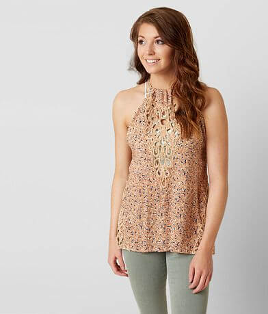 Gimmicks Floral High Neck Tank Top