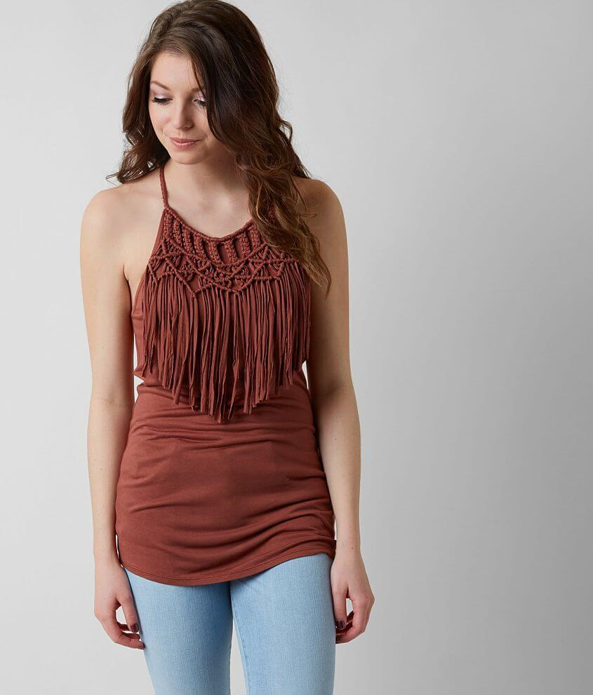 Gimmicks Fringe Tank Top front view
