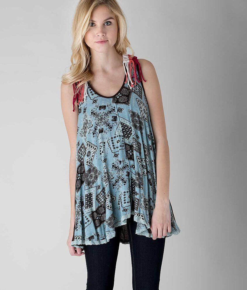 Gimmicks Printed Tank Top front view