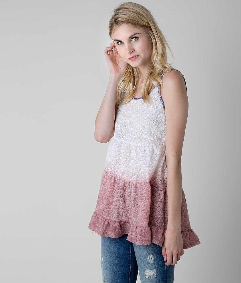 Gimmicks by BKE Jacquard Tank Top front view