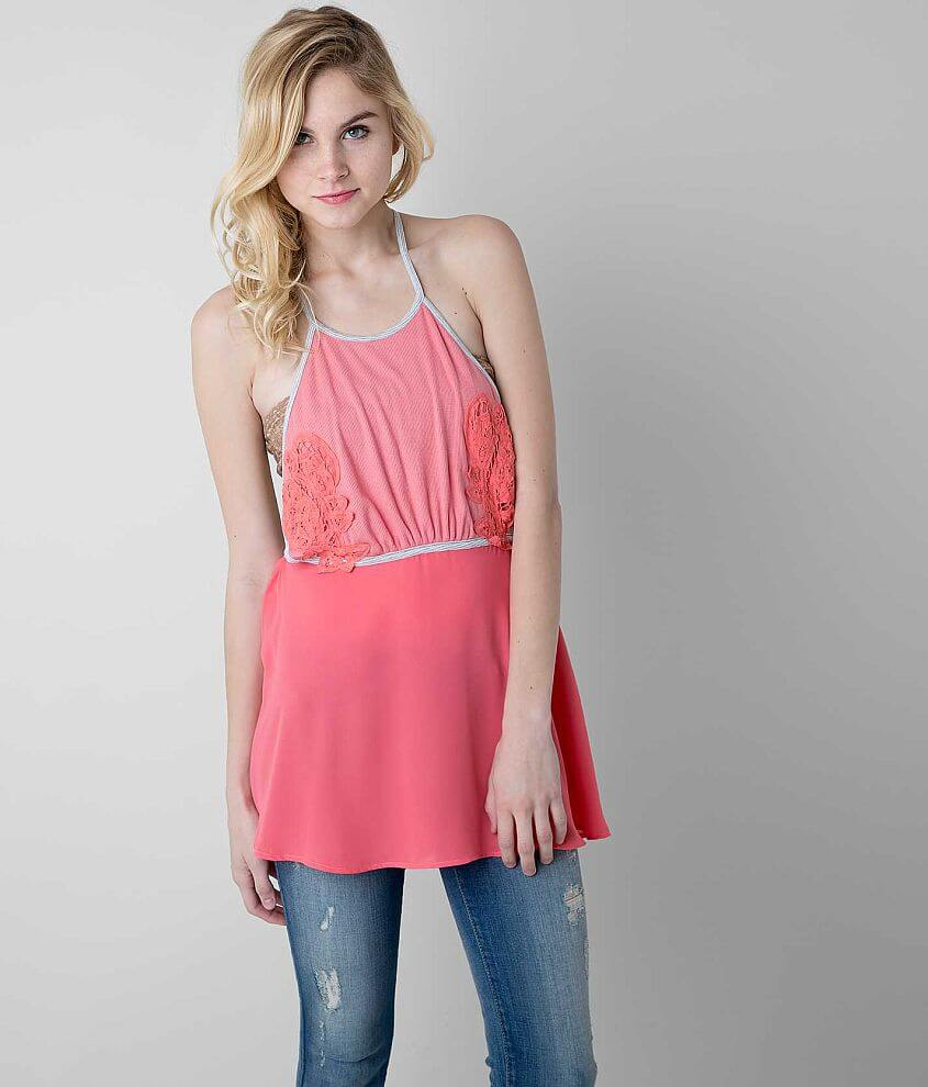 Gimmicks by BKE Ribbed Tank Top front view