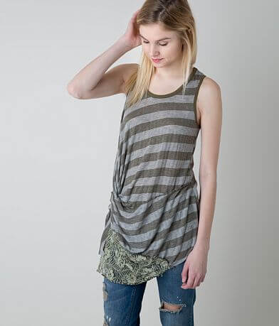 Gimmicks Twisted Hem Tank Top