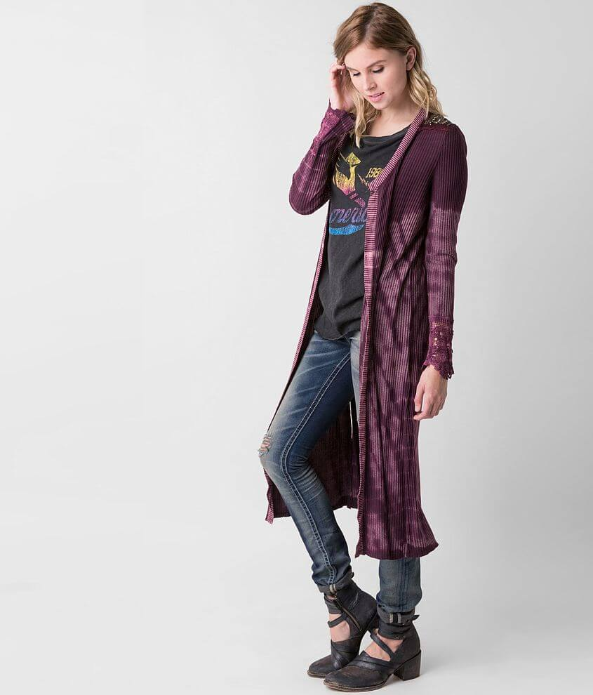 Gimmicks Ribbed Cardigan front view
