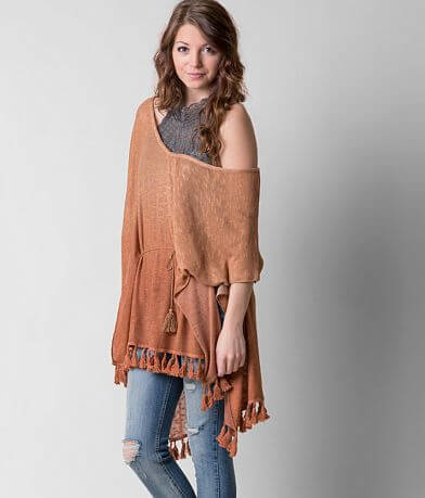 Gimmicks Open Weave Poncho