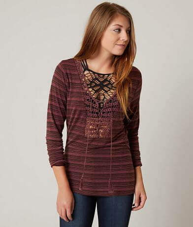 Gimmicks Washed Lace-Up Top