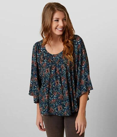 Gimmicks Floral Pleated Top