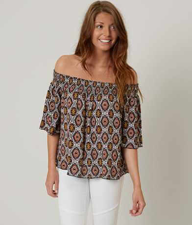 Gimmicks Printed Off The Shoulder Top