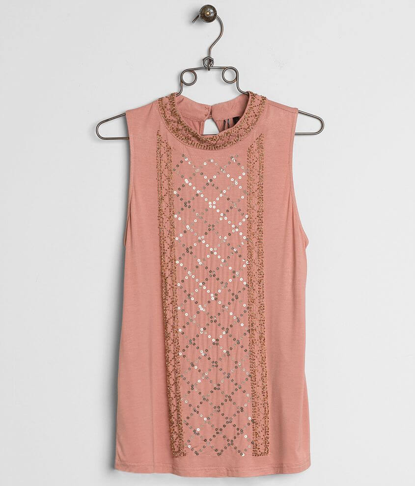 BKE Boutique Embellished Tank Top front view