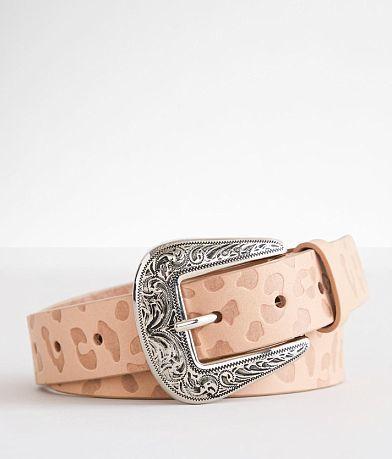 BKE Leopard Print Leather Belt