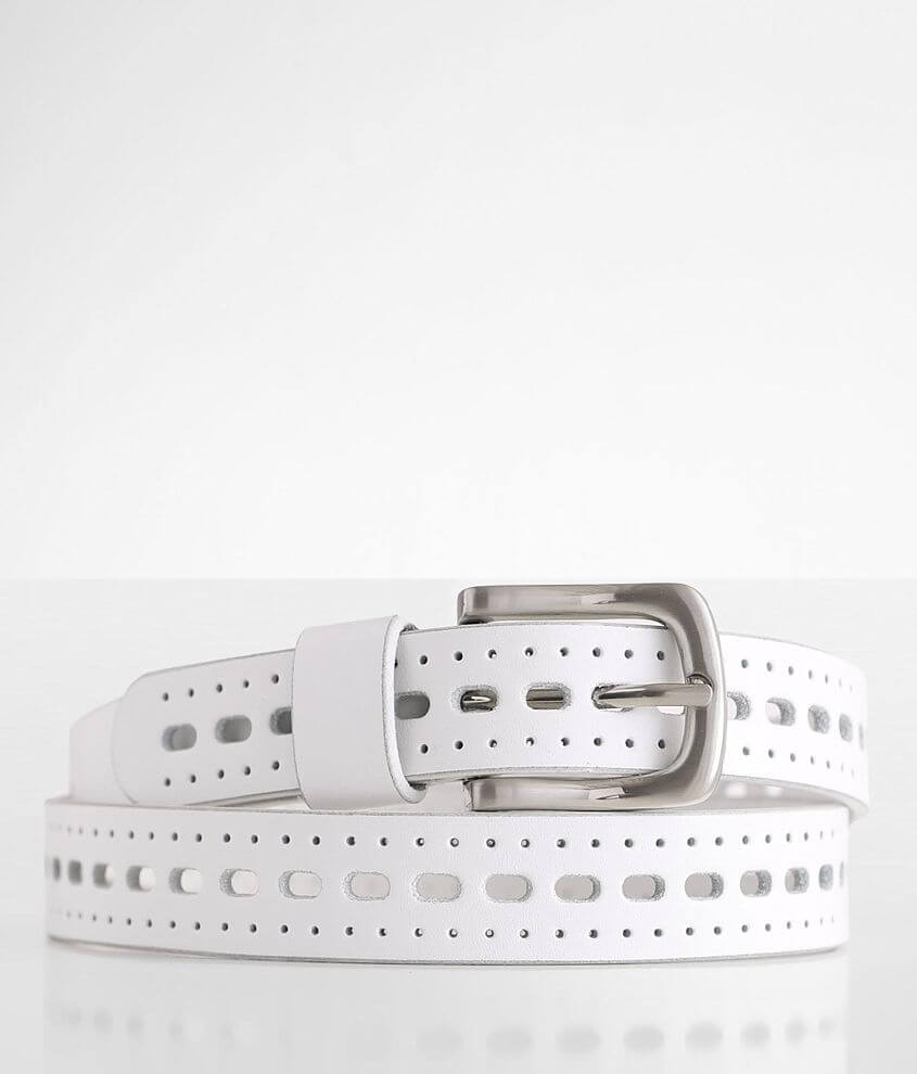 BKE Perforated Leather Belt front view