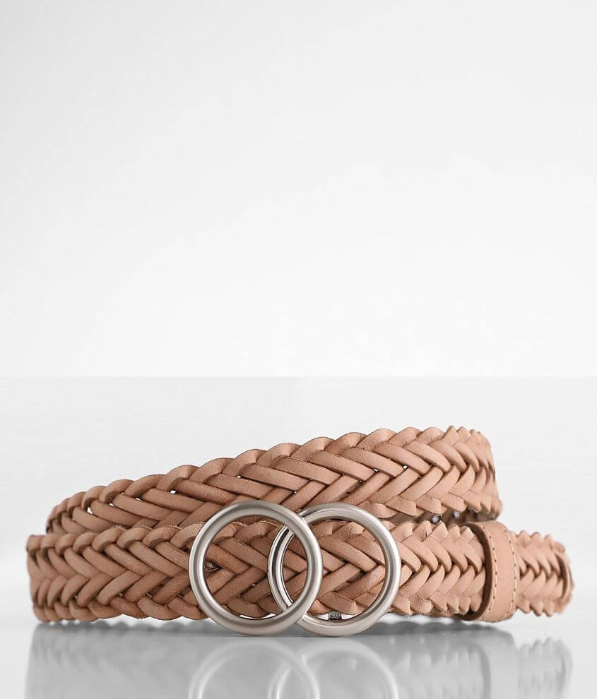 BKE Braided Leather Belt front view