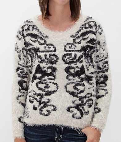 BKE Boutique Scroll Sweater