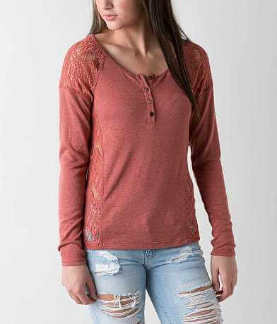 BKE Lace Henley Top