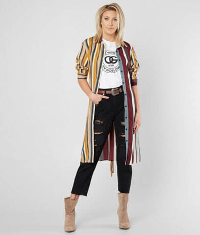 FATE Striped Tunic Shirt
