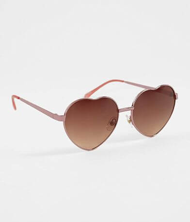 BKE Heart Shaped Sunglasses