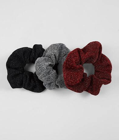3 Pack Metallic Hair Scrunchies